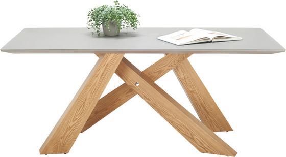 Jídelní Stůl Paul - barvy dubu/jílová barva, Moderní, dřevěný materiál/sklo (180/76/90cm)