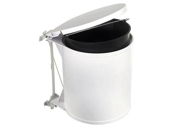 Abfalleimer Rund - Weiß, Basics, Kunststoff (32/31/27cm) - HKT