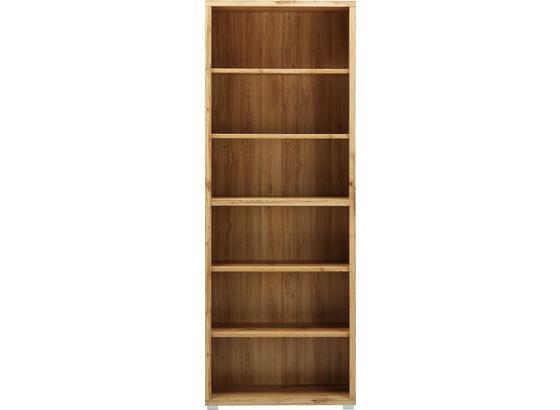 Regál Line4 - farby dubu, Moderný, kompozitné drevo (80/218/36cm)