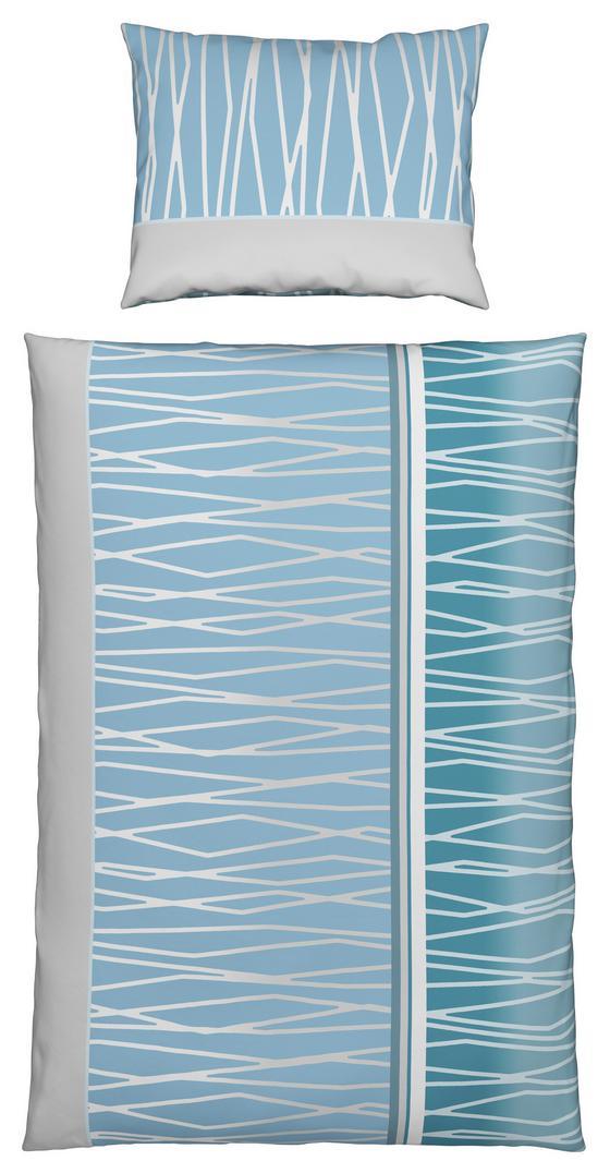 Bettwäsche Helia - Blau, MODERN, Textil - Luca Bessoni
