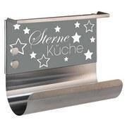 Küchenrollenhalter Sterneküche Magnetisch Grau - Multicolor, MODERN, Glas/Metall (30/14,5/26cm)