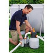 Sandfilterpumpe Flowclear 1500gal 5.678 L/H 58497 - Orange/Weiß, MODERN, Kunststoff/Metall (48/42/52,8cm) - Bestway