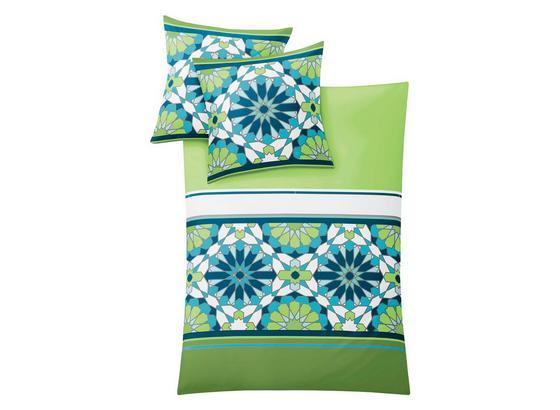 Makosatin Bettwäsche Ravenna, Palme - Grün, MODERN, Textil - Kleine Wolke