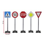Verkehrsschilder-Set Grand A 5-teilig - Multicolor, Basics, Kunststoff (25,0/25,0/81,0cm)