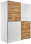 Tolóajtós Szekrény Victor 2 - Tölgyfa/Fehér, modern, Faalapú anyag (170/195/63cm)