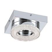 LED-wandleuchte Fradelo - Chromfarben/Klar, MODERN, Kunststoff/Metall (14/14/6cm)