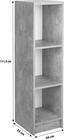 Regal 4-You New YUR05 - Schwarz/Weiß, MODERN, Holzwerkstoff (30/111,5/34,6cm)