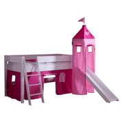 Spielbett Kim 90x200 cm Buche Massiv - Pink/Rosa, Design, Holz (90/200cm)