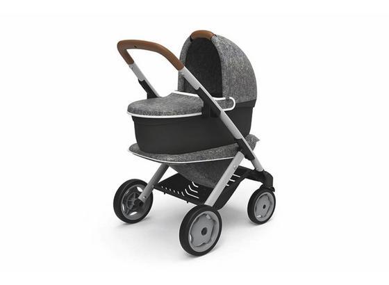 Puppenwagen Quinny 3in1 - Schwarz/Grau, Basics, Kunststoff/Textil (34/19,5/53cm)