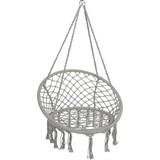 Hängesessel Grau - Grau, Basics, Textil/Metall (80cm)