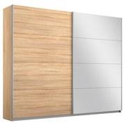Schwebetürenschrank mit Spiegel 226cm Belluno, Eiche Dekor - Sonoma Eiche, MODERN, Holzwerkstoff (226/230/62cm) - MID.YOU