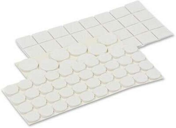 Filzgleiter-Set 88-teilig - Weiß, Textil (0cm) - Homezone