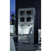 Vitrine Andorra Mango Massiv B:90cm Silber Dekor - Silberfarben, Basics, Glas/Holz (90/187/40cm)