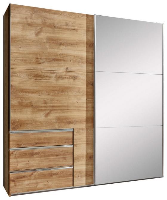Schwebetürenschrank Level 36a 250cm Eiche Dekor - Eichefarben, MODERN, Holzwerkstoff (250/216/65cm)