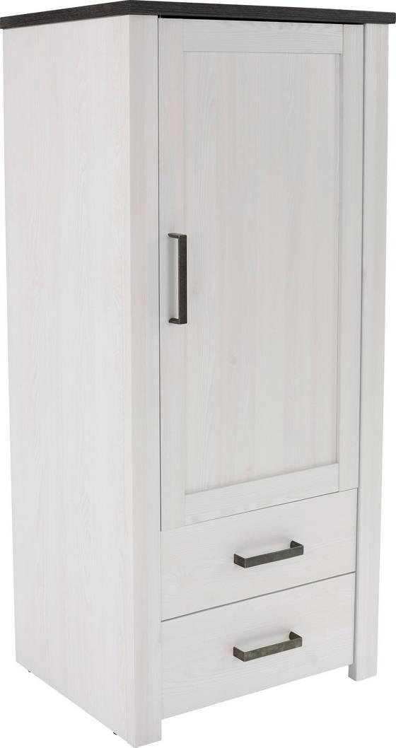 Skříň Provence - bílá/barvy wenge, Romantický / Rustikální, dřevěný materiál (71,2/142,5/42cm) - James Wood