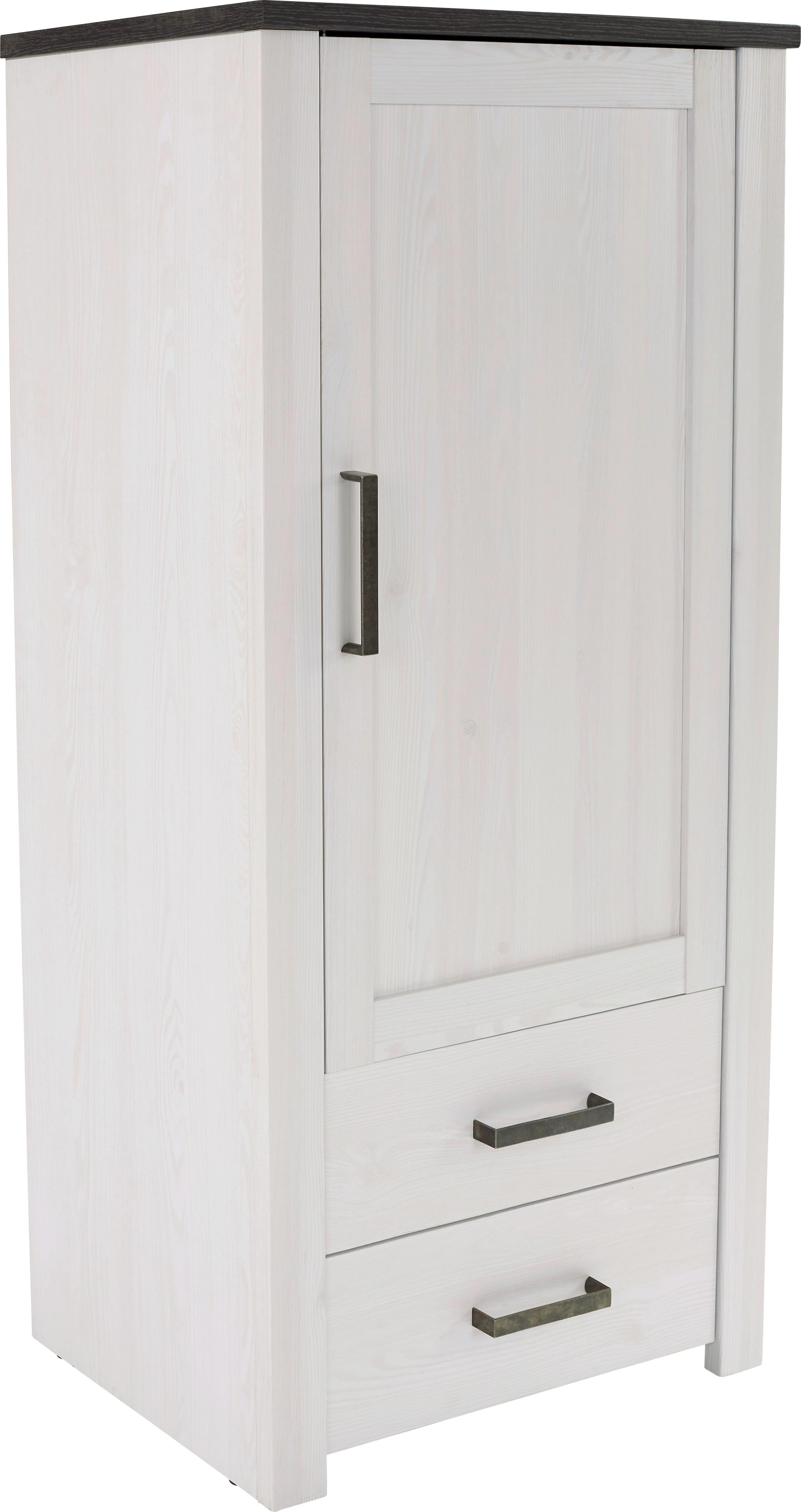 Szekrény Provence - fehér/wenge színű, romantikus/Landhaus, faanyagok (71,2/142,5/42cm) - JAMES WOOD