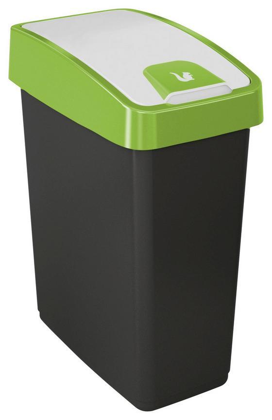 Abfalleimer Magne - Graphitfarben/Grün, Kunststoff (39,5/24/47,5cm)