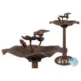 Vogeltränke H: 85 cm - Grau, KONVENTIONELL, Kunststoff (50/50/85cm)