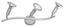 Spotlámpa Timi - Ezüst, konvencionális, Műanyag/Fém (55cm) - Ombra