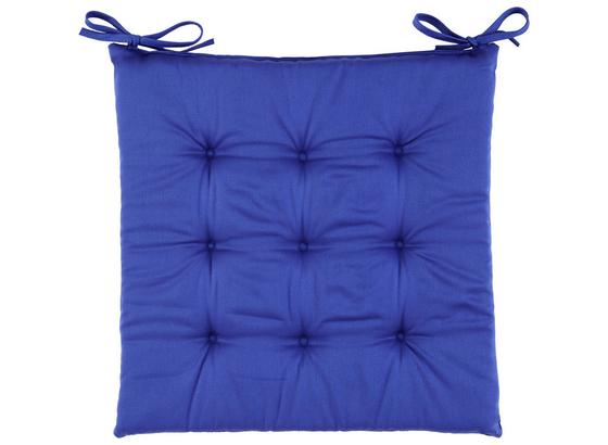 Sedací Vankúš Lola -based- -top- - modrá, textil (40/40/2cm) - Based