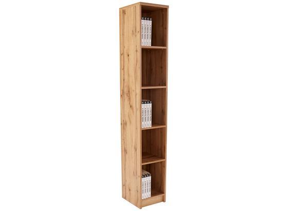 Regál 4-you New Yur06 - farby dubu, Moderný, kompozitné drevo (30/189,5/34,6cm)