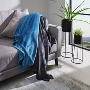 Kuscheldecke Marlies *pmb* - Dunkelgrau, MODERN, Textil (150/200cm) - Luca Bessoni