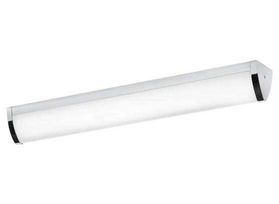 LED-decken- Wandleuchte Gita 2 - Chromfarben/Weiß, MODERN, Kunststoff/Metall (60/7,5/7,5cm)