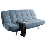 Schlafsofa mit Bettkasten Ikar, Textil - Blau/Silberfarben, MODERN, Textil (208/102/98cm) - MID.YOU