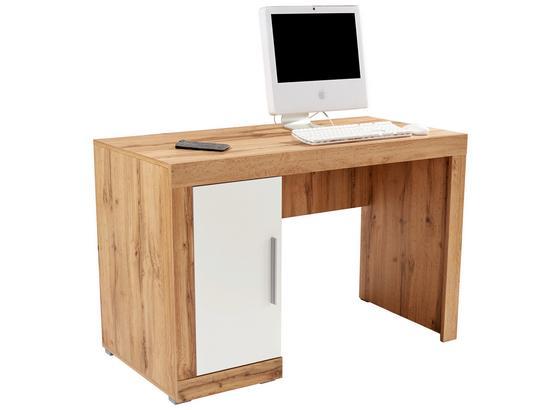 Psací Stůl Frame - bílá/barvy dubu, Konvenční, kompozitní dřevo (122/75/53cm)