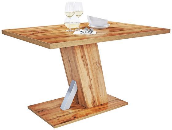 Jídelní Stůl Severin 138 - barvy dubu, Moderní, dřevěný materiál (138/76/90cm)