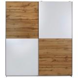 SCHWEBETÜRENSCHRANK PULS - Eichefarben/Weiß, KONVENTIONELL, Holzwerkstoff (170/195,5/58,5cm)