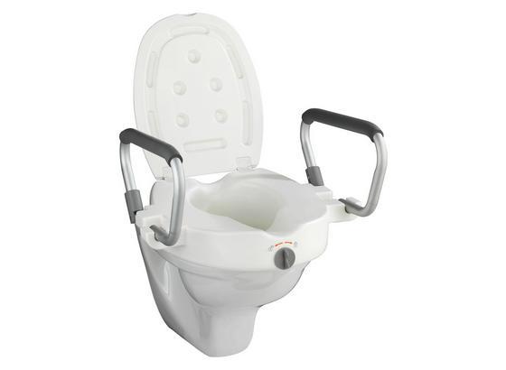 WC-Sitzerhöhung Secura inkl. Armlehnen - Weiß, MODERN, Kunststoff (55/37,5/47,5cm)