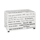 Sedací Box Slogan - bílá/černá, Moderní (65/40/42cm)