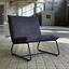 Sessel Paris Bench B: 83 cm Grau - Schwarz/Grau, MODERN, Textil (83/83/75cm) - Livetastic