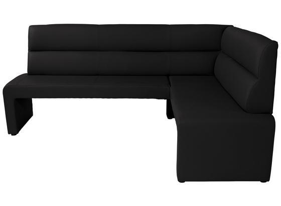 Rohová Lavica Valentina - čierna, Konvenčný, kompozitné drevo (200/160cm)
