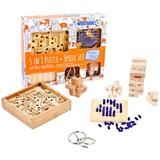 Geschicklichkeitsspielset 5 in1 aus Holz und Metall - Holz/Metall