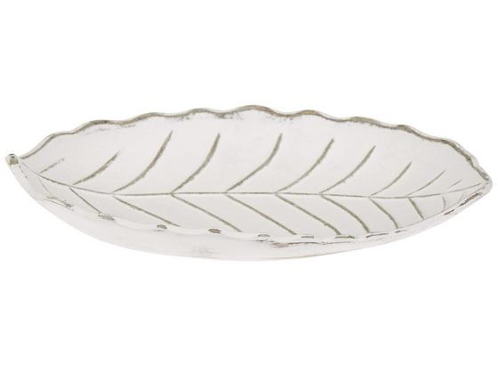 Dekoschale Leaf - Weiß, MODERN, Holzwerkstoff (24,5/18/5cm) - Ombra