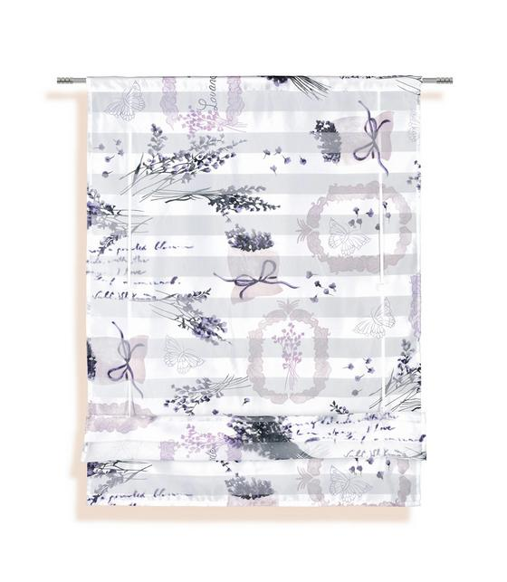 Bändchenrollo Doris - Lila, KONVENTIONELL, Textil (100/140cm) - Ombra