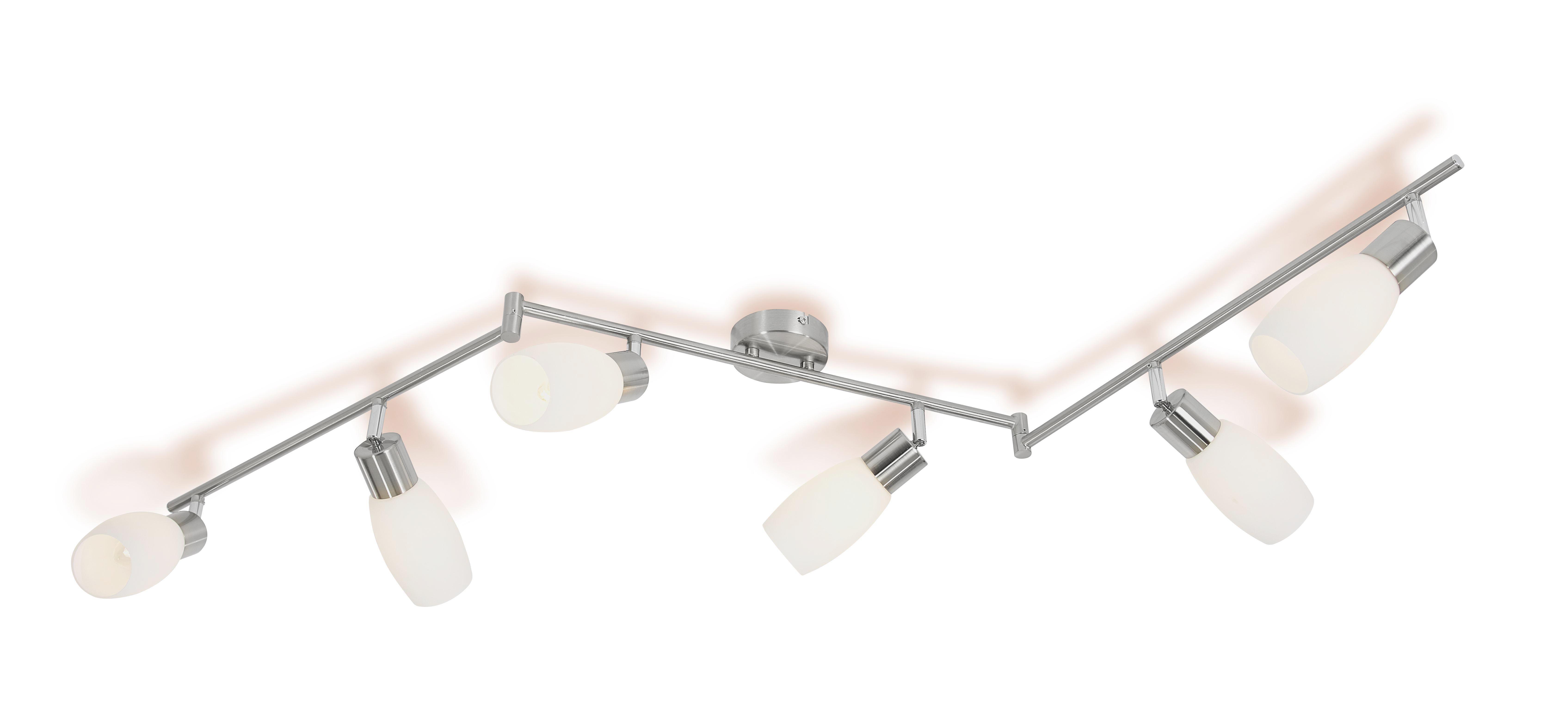 Deckenspot Brigitte - Nickelfarben, KONVENTIONELL, Glas/Metall (150/8/27,2cm) - OMBRA