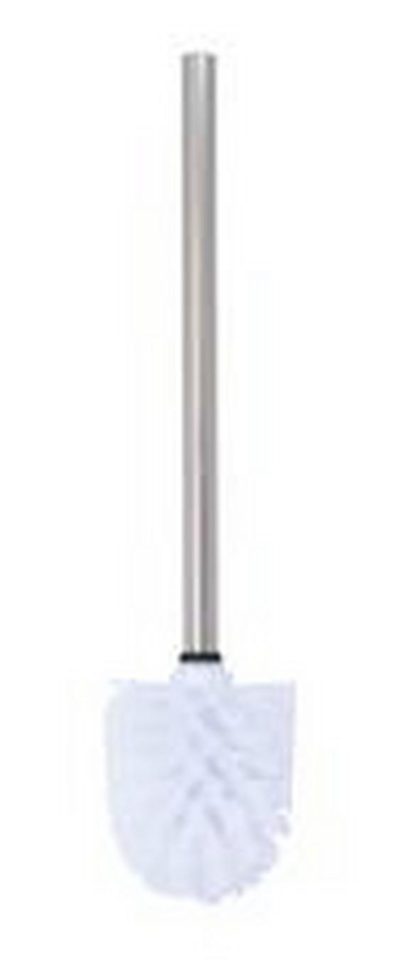 WC-Bürste H: 32cm - Chromfarben, KONVENTIONELL, Kunststoff/Metall (8/8/32cm)