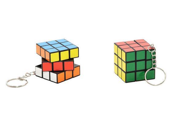 Schlüsselanhänger Zauberwürfel - Multicolor, Kunststoff (3,5/3,5/3,5cm)