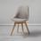 Jedálenská Stolička Rocksi - svetlosivá/farby buku, Moderný, drevo/textil (48/82,5/43cm) - Modern Living