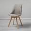 Jídelní Židle Rocksi - světle šedá/barvy buku, Moderní, dřevo/textil (48/82,5/43cm) - Modern Living