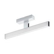 Spiegelleuchte Pandella 1 - Chromfarben/Silberfarben, MODERN, Kunststoff/Metall (40/4/12cm)