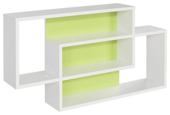 NÁSTENNÝ REGÁL DREAM DXR11 - biela/zelená, Moderný, kompozitné drevo (90/48/16cm)