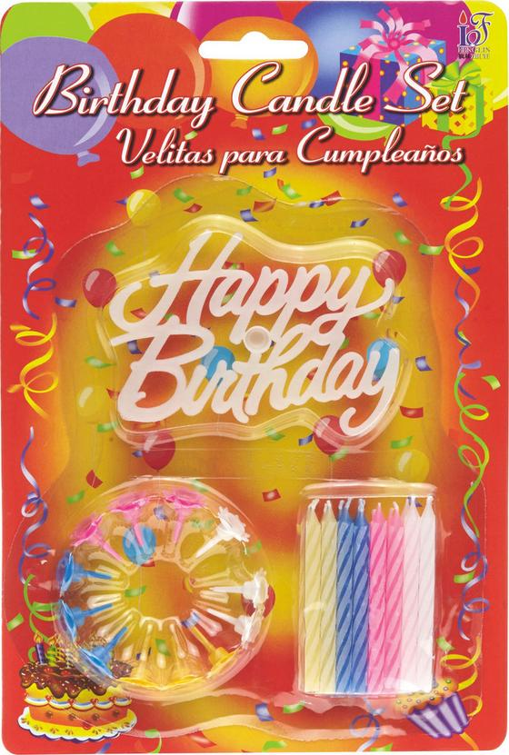 GEBURTSTAGSKERZEN HAPPY BIRTHDAY - Multicolor, KONVENTIONELL (15/23/1cm)