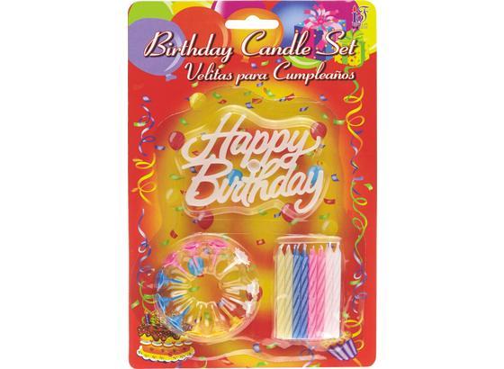 Geburtstagskerzen Happy Birthday - Multicolor, KONVENTIONELL (15/23/1cm)