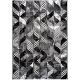Hochflorteppich Enna, 120/170 - Schwarz/Grau, MODERN, Textil (120/170cm)