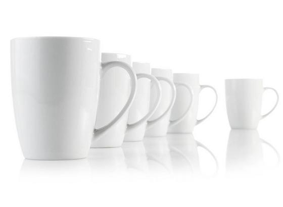 Hrnček Na Kávu Cenový Trhák - biela, Konvenčný, keramika (8/10cm) - Based