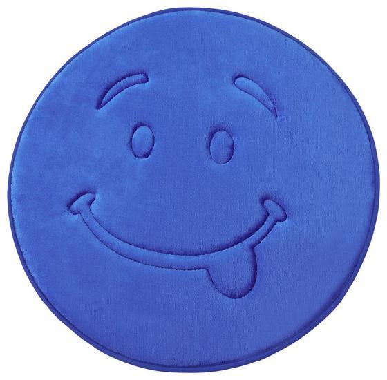 Kinderteppich Smile Ø 58 cm - Blau/Pink, Textil (58cm) - Luca Bessoni